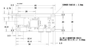 Pi Zero Mechanical Dimensions (official)