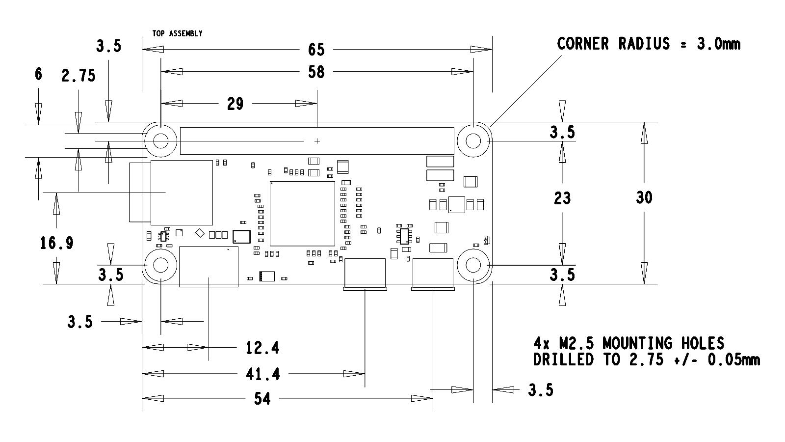 Raspberry Pi Mechanical Drawings & Dimensions - Raspberry Pi Spy