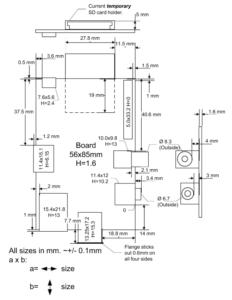 Raspberry Pi Mechanical Dimensions