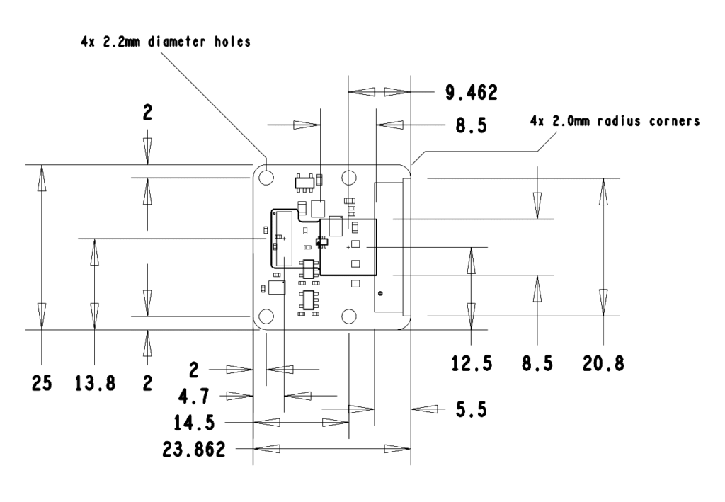 Camera Module Mechanical Dimensions (official)