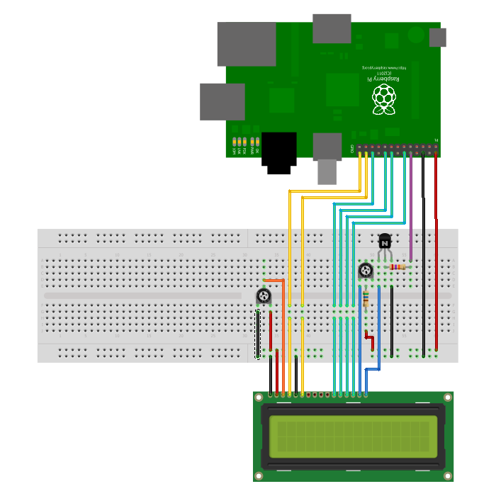 20x4 LCD Module Control Using Python - Raspberry Pi Spy