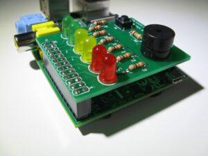 BerryClip 6 LED Buzzer Board