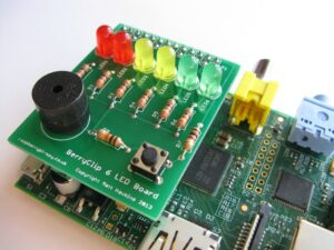BerryClip 6 LED Buzzer Board