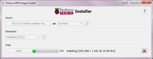 Fedora ARM Installer - Write Process