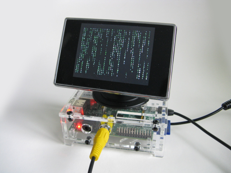 Matrix Pi - Running CMatrix on the Raspberry Pi - Raspberry