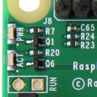 Pi 2 Status LEDs