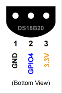 DS18B20 Pin-out