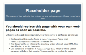 Lighttpd Placeholder Page