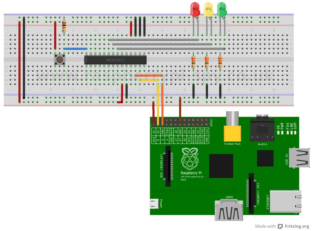 MCP23017 IO Expander Example
