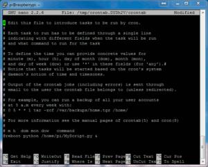 Crontab Example - Python at Boot