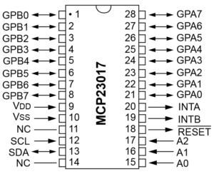 MCP23017 16-bit Port Expander