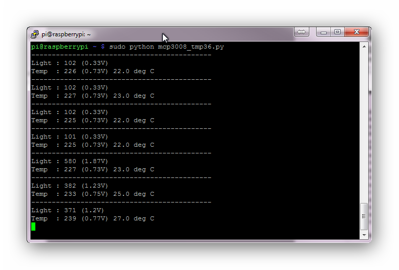 MCP3008 Screenshot