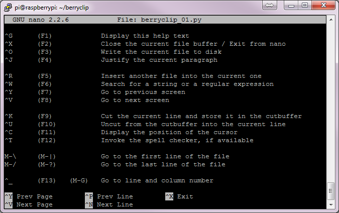 nano Text Editor Screenshot #2