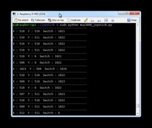 MCP3008 Joystick Output