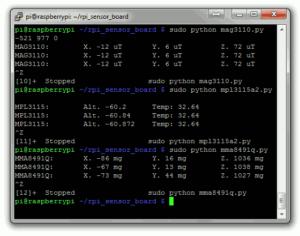 MEMS Sensor Board Test Scripts