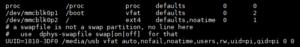 USB Stick Automount Fstab File