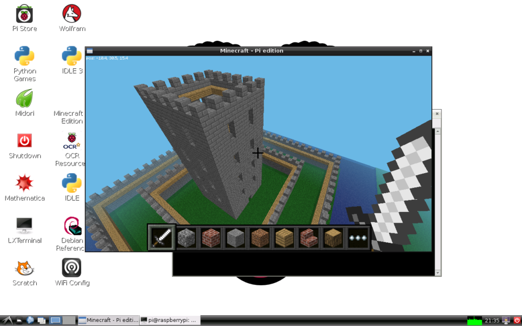 Building A Castle In Minecraft With Python - Raspberry Pi Spy
