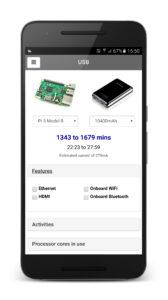 Pi Power Estimator Screenshot