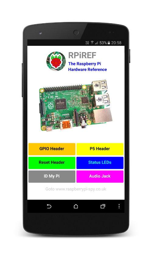 RPiREF on Nexus 5 Smartphone