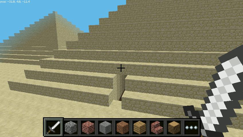 Minecraft Pyramids on the Pi