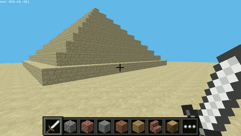 Minecraft Pyramids on the Pi
