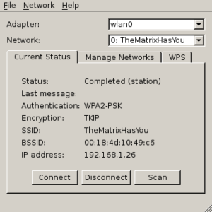 WiFi Config Using LXDE