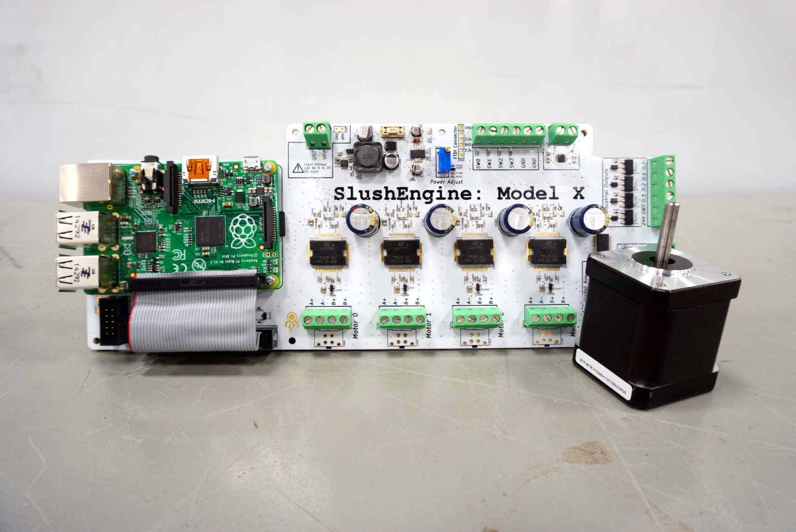 Slushengine stepper motor controller for raspberry pi for Raspberry pi stepper motor controller