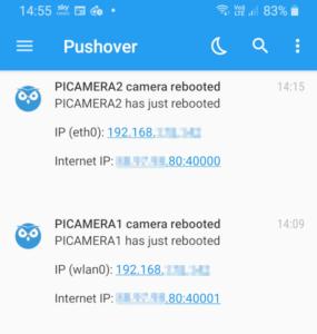 MotionEyeOS Pushover Notifications