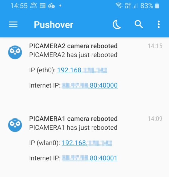 MotionEyeOS Pushover Notifications