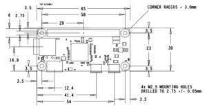 Pi Zero Mechanical Diagram