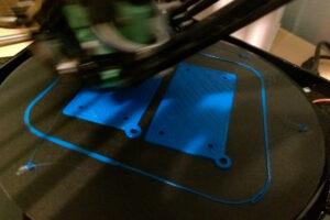 Fisher printing MagPi Zero case