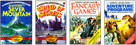 1980s adventure games computer design book covers
