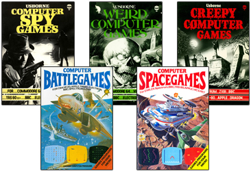 1980s computer games design book covers