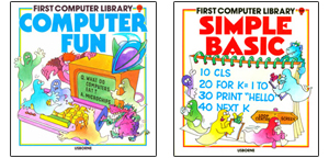 1980s computer library book covers