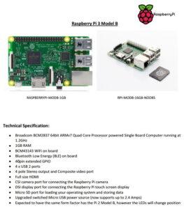 Raspberry Pi 3 Specifications