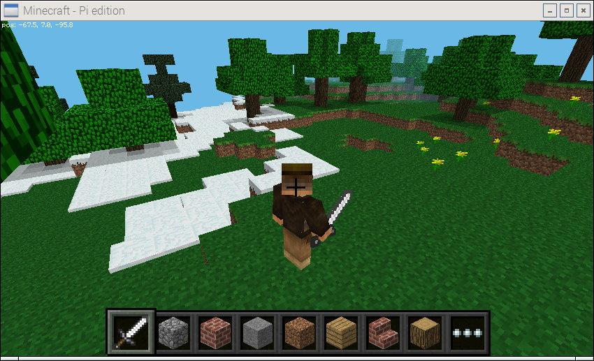 Change Skin in Minecraft Pi Edition