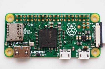 Raspberry Pi Zero with camera connector