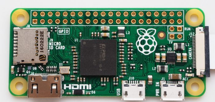 Raspberry Pi Zero with camera connector