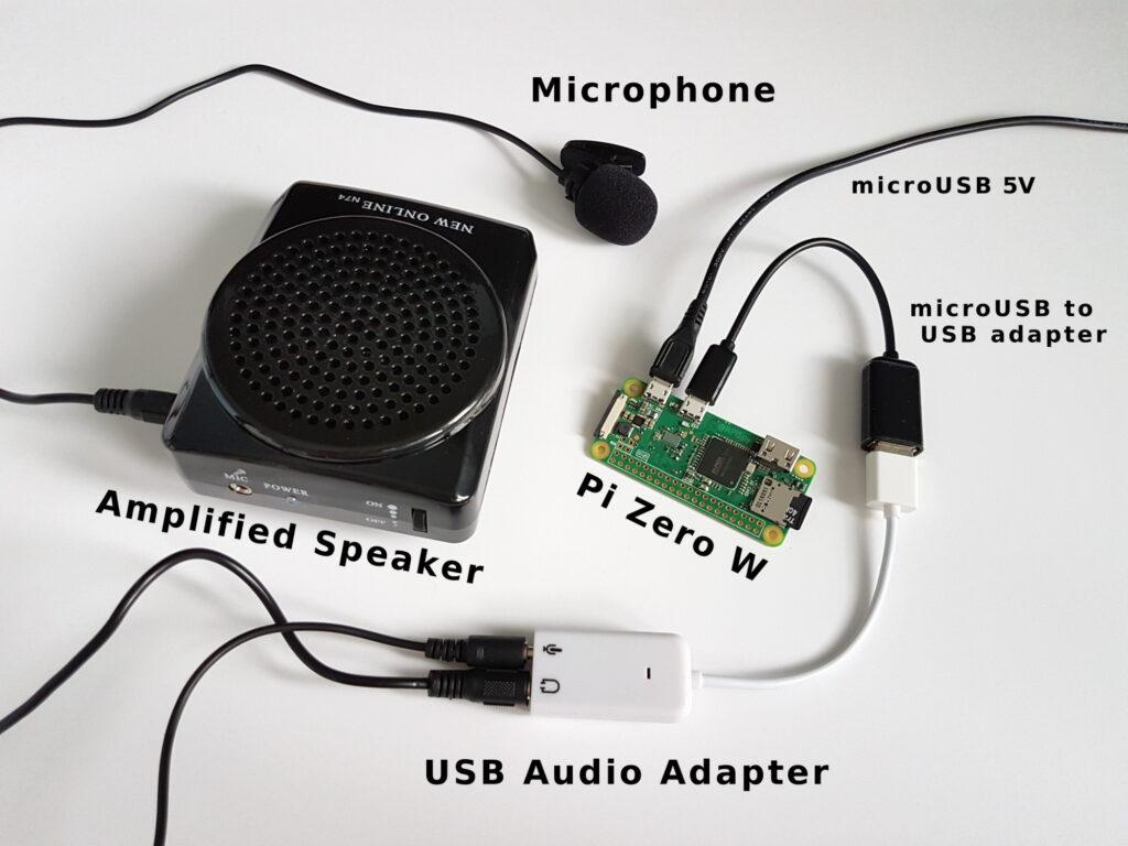 Amplified Voice Changer using a Raspberry Pi Zero