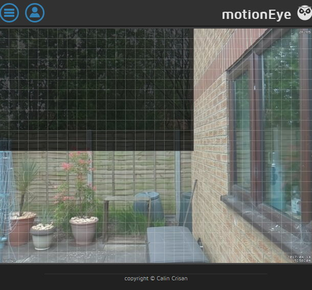 motionEyeOS detection masking setup