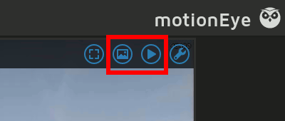 motionEyeOS Image and Movie Gallery Buttons