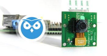 motionEyeOS Logo and Pi Camera