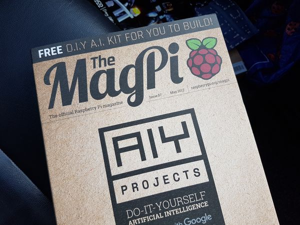 The MagPi Issue 57 AIY Kit