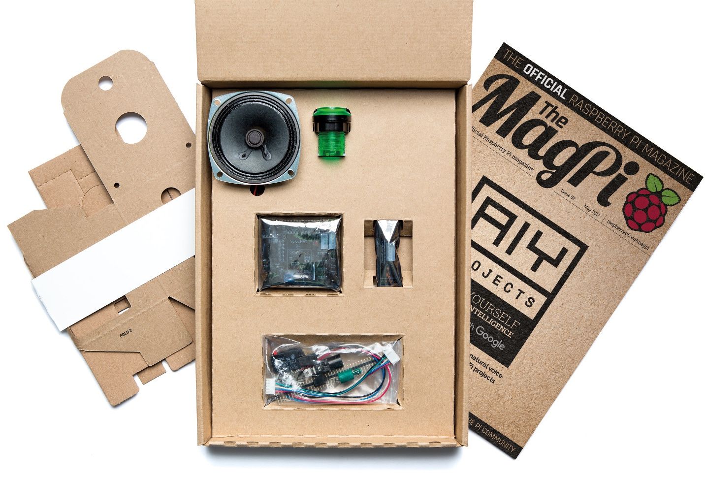 The MagPi Issue 57 Comes with Google Voice Interaction Kit