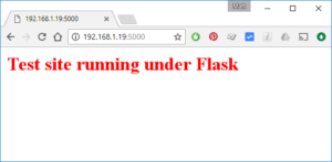 Flask Test Site