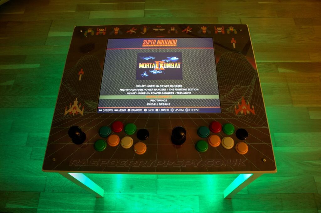 RetroPie IKEA Retrogaming Table using Raspberry Pi