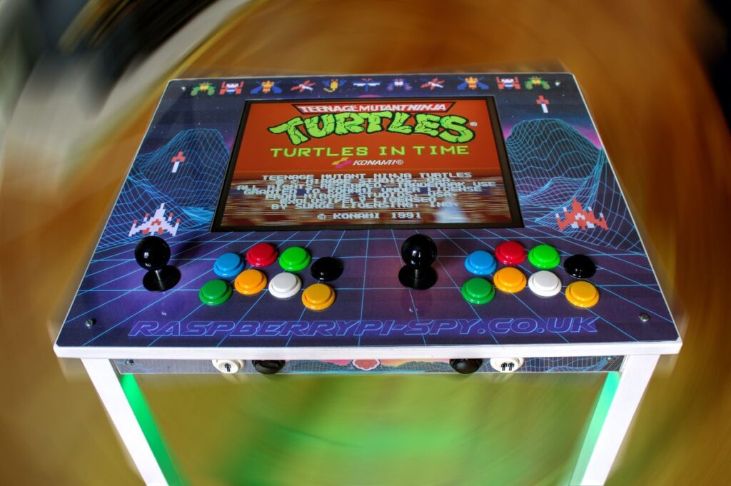 RetroPie IKEA Arcade Table - Turtles in Time