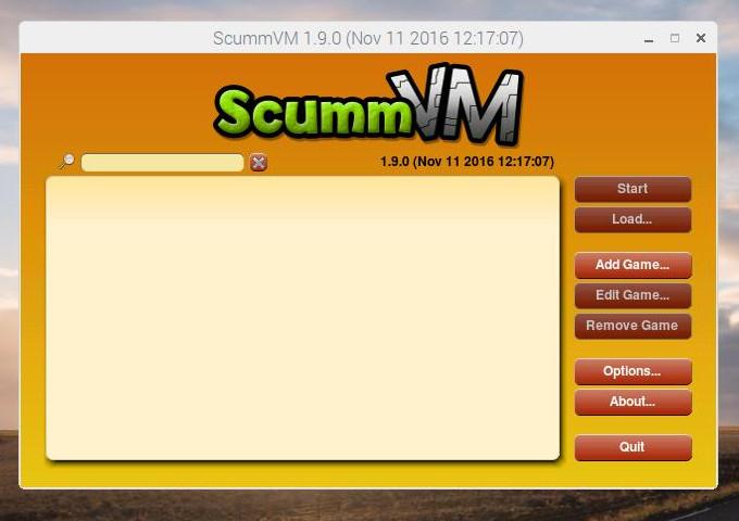 ScummVM main launcher