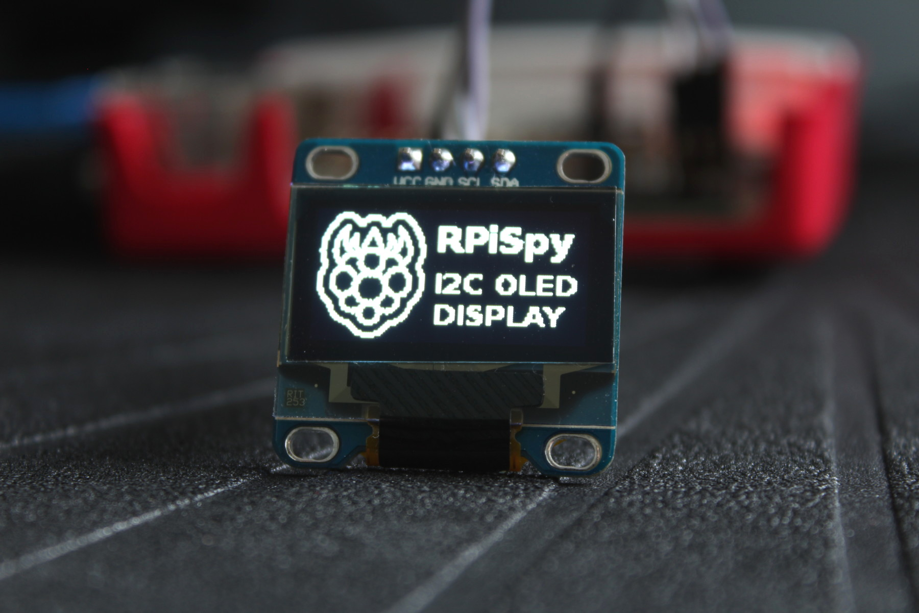 Using an I2C OLED Display Module with the Raspberry Pi