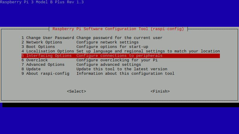 Enable RetroPie SSH - Raspi-config Screen